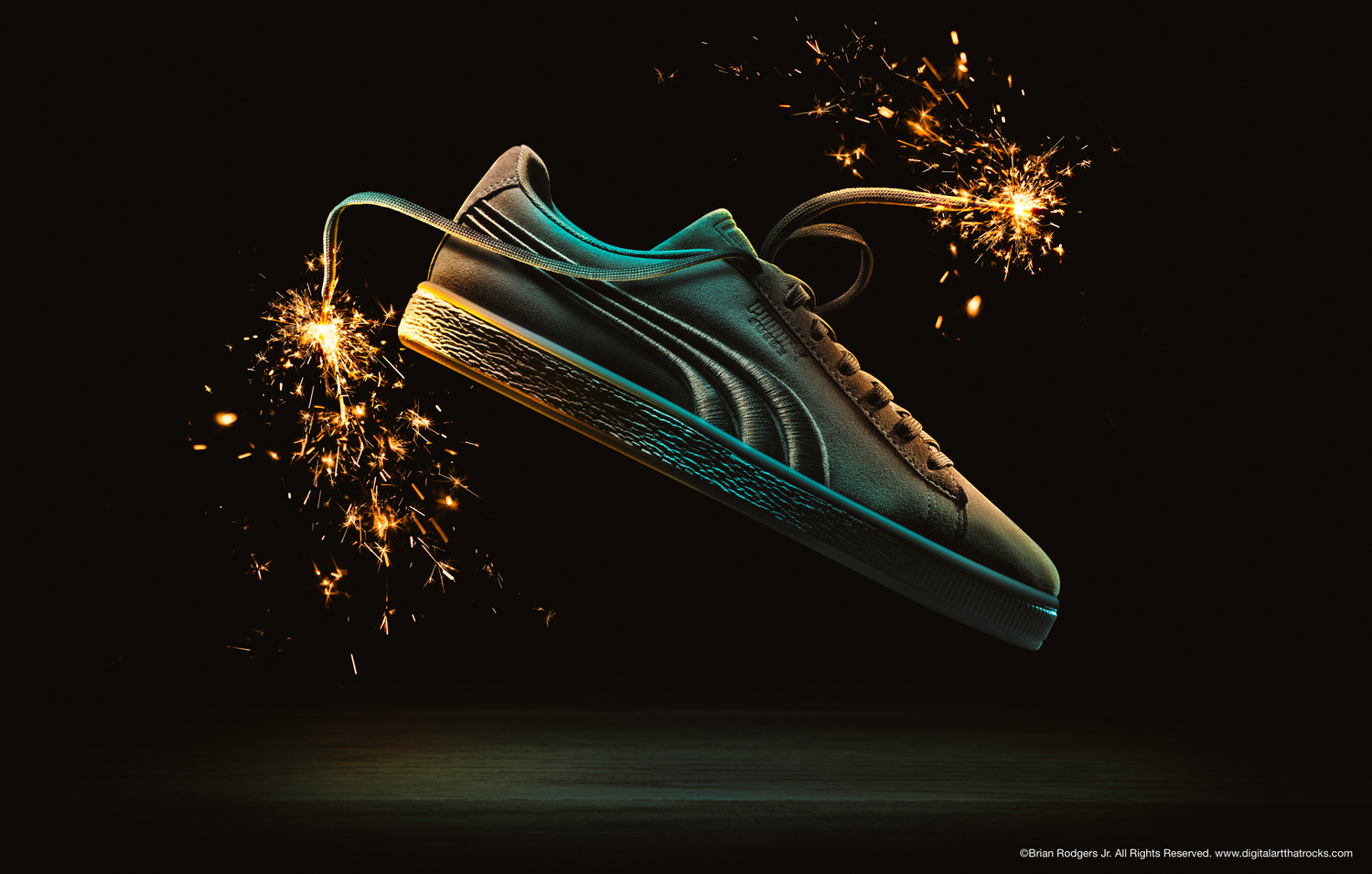 Shoe Sparkler by Brian Rodgers Jr.