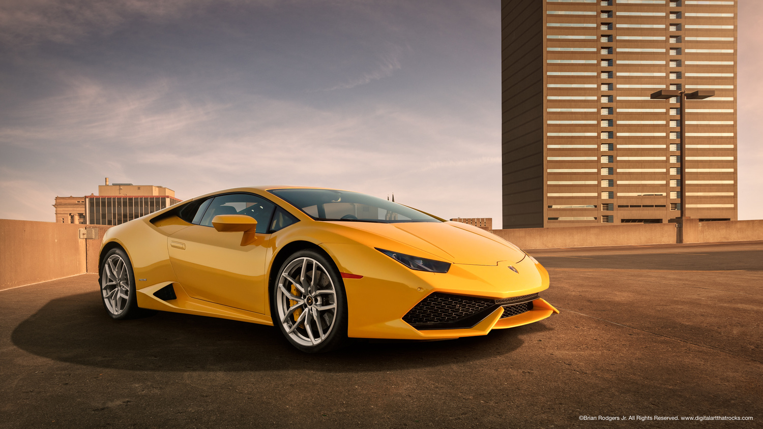 Yellow Lamborghini by Brian Rodgers Jr.