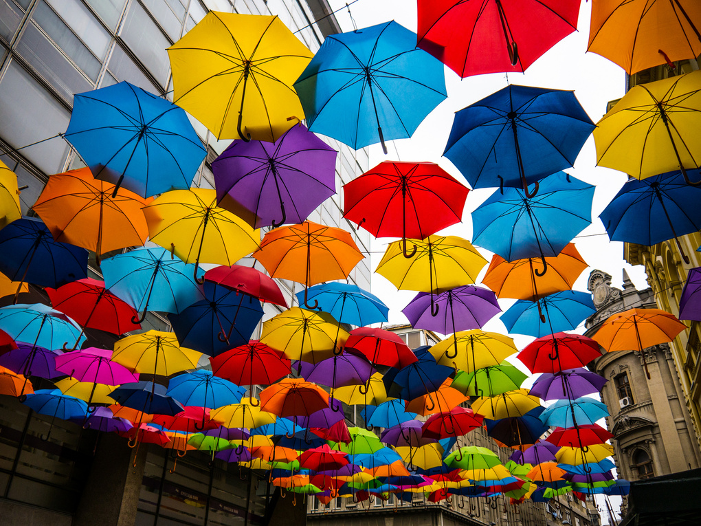 Umbrellas by Matej Duzel