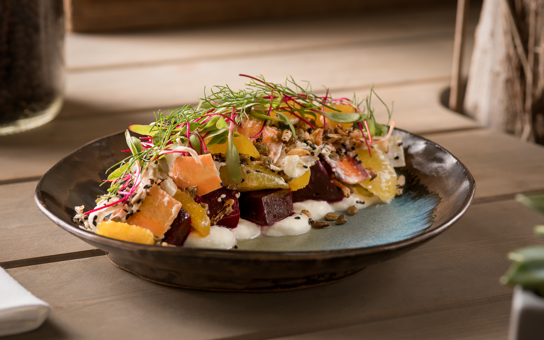 Coffee Roasted Beet Salad by Kim Smith