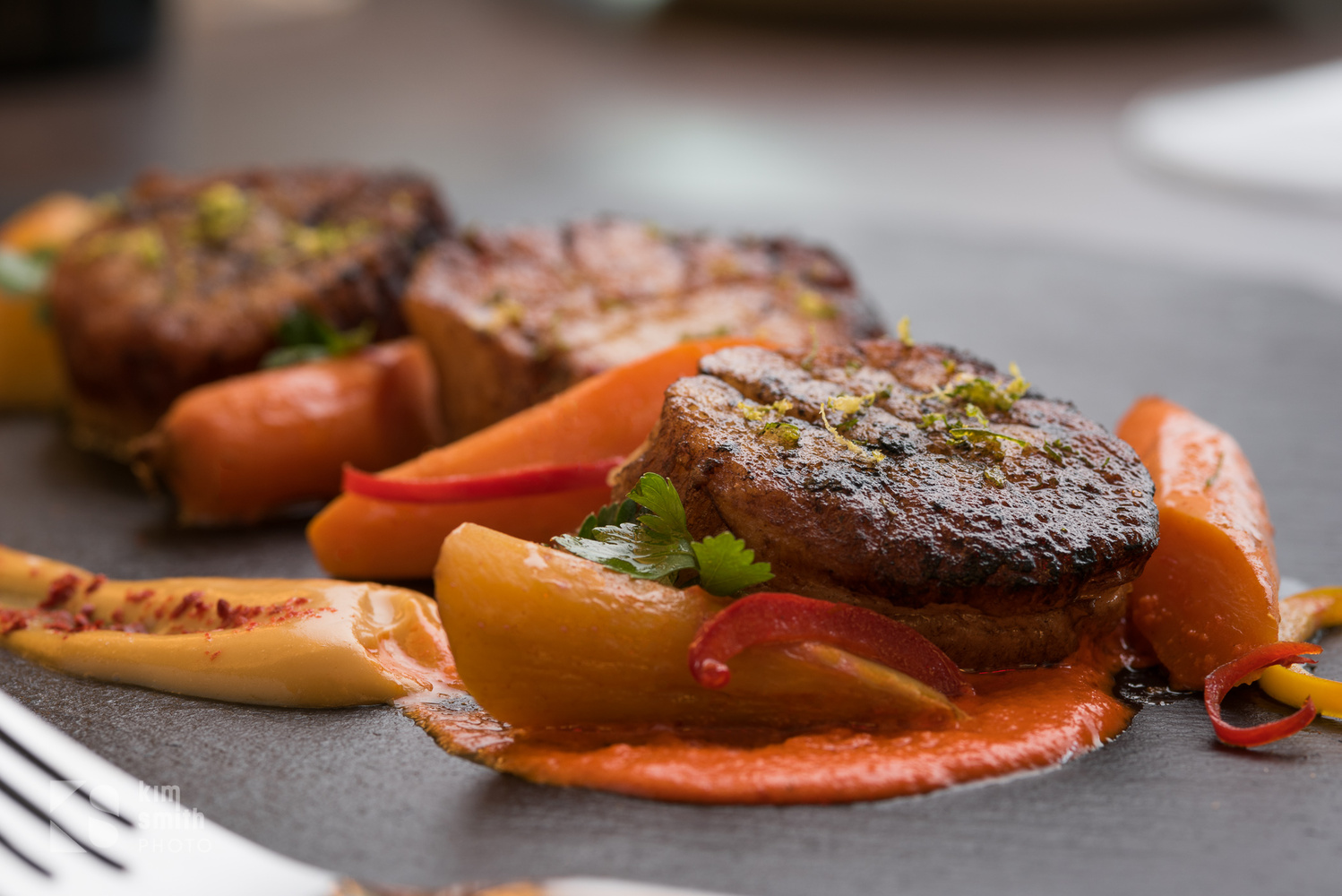 Roasted Duck on Carrot Purée by Kim Smith