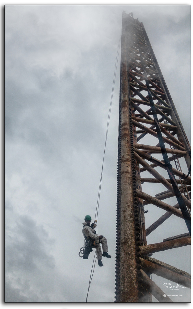 IRATA rope access tech by Lee Ramsden