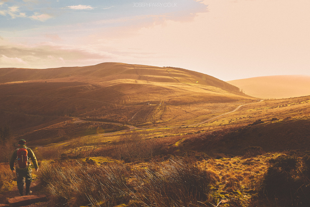The Golden Hour of Hiking by Joseph Parry