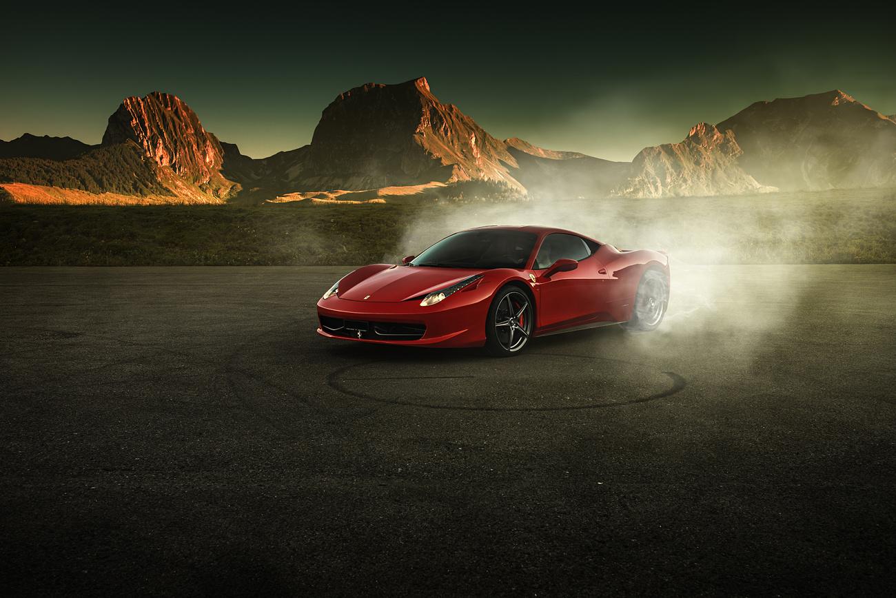 Ferrari 458 Italia - Burnout by Pascal phPics
