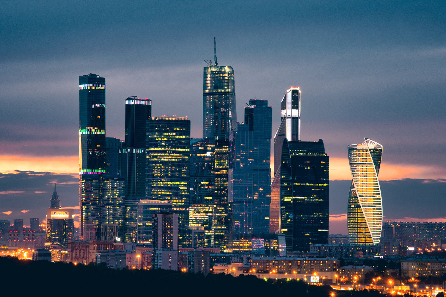Moscow International Business Center by Aleksey Makeev