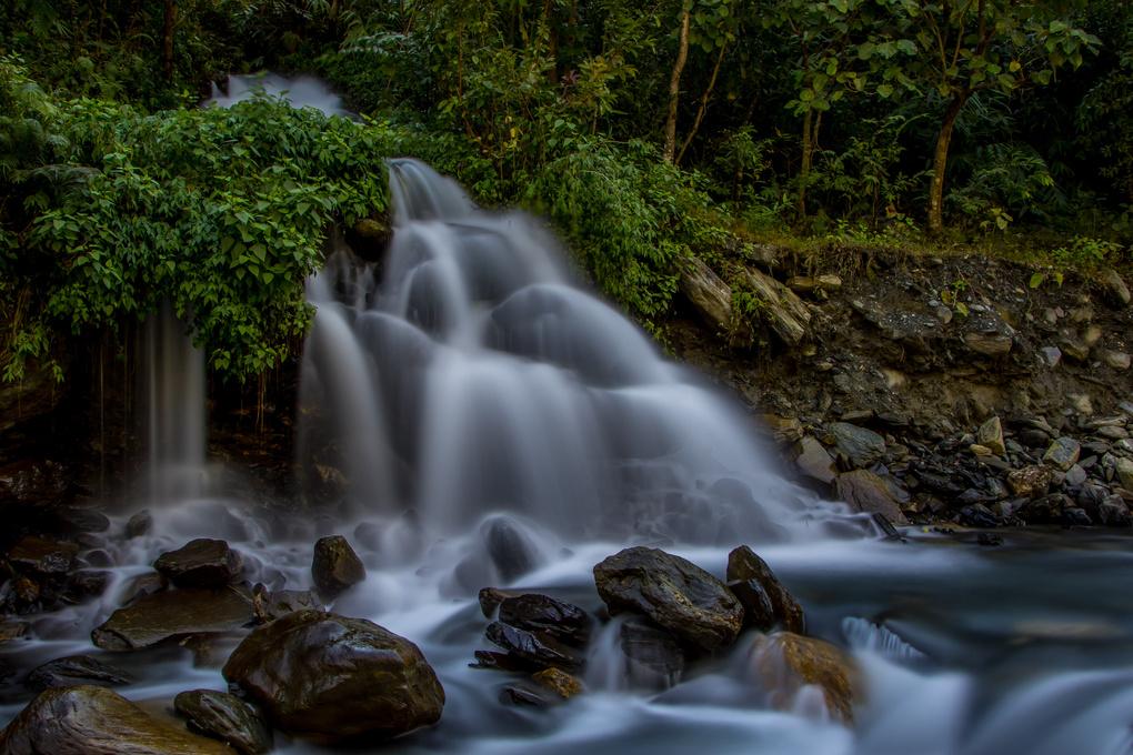Waterfall in Phulbari Nepal by Robert Steed