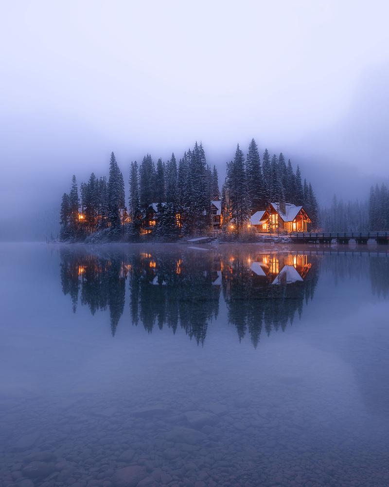 Misty morning at Emerald lake by Nico BABOT