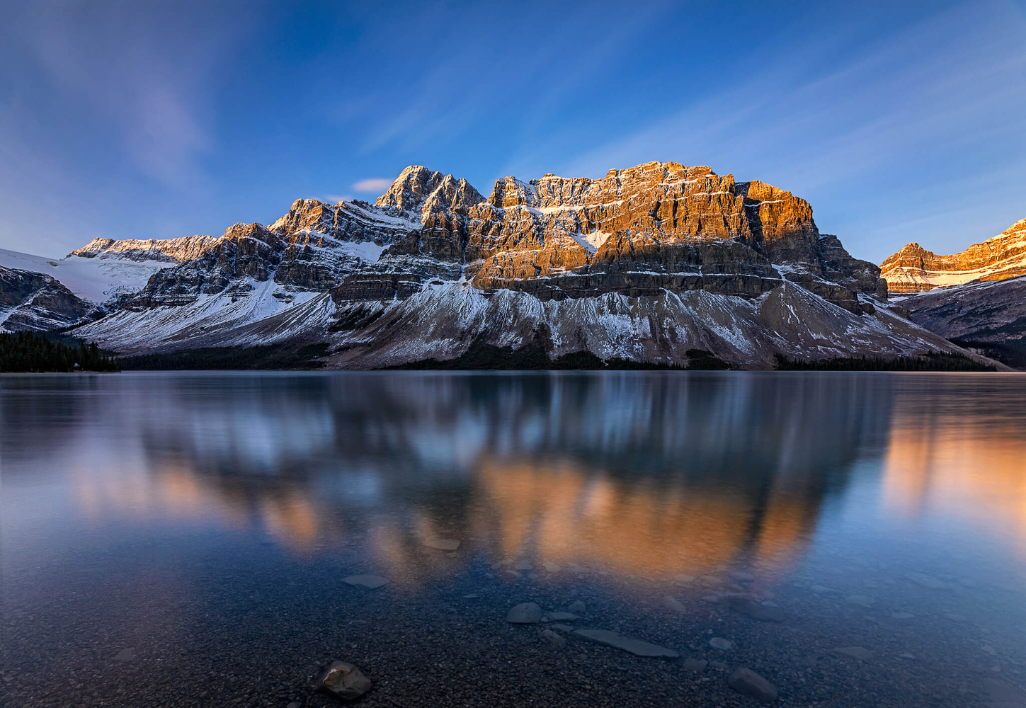 Sunrise on the Crowfoot mountain Canada by Nico BABOT