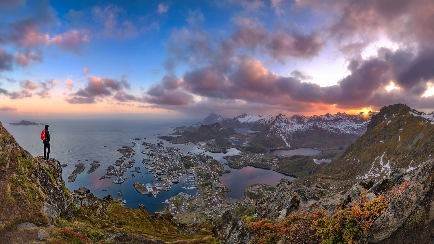 Midnight sun over Solvaer by Nico BABOT