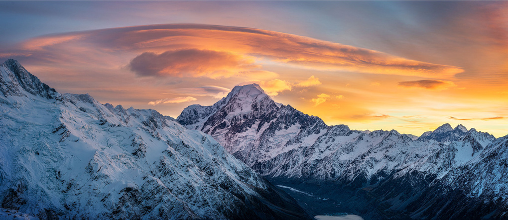 Mt Cook from Mt Olivier by Nico BABOT