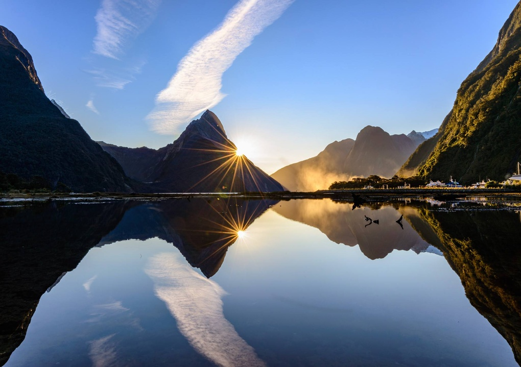 Sunset in Milford Sound by Nico BABOT