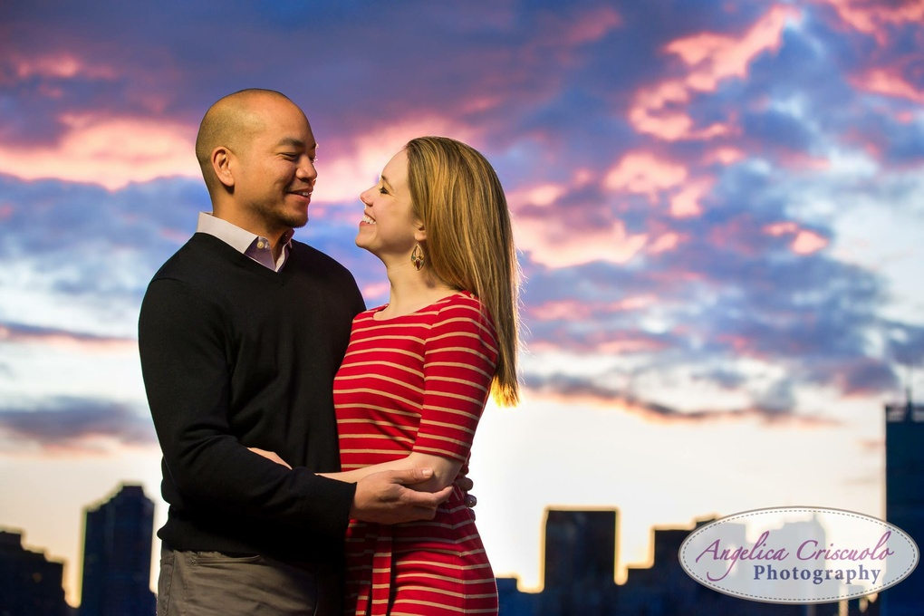 Sunset Engagement in LIC New York  by Angelica Criscuolo