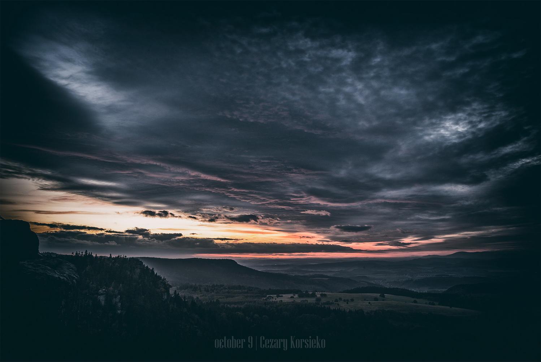 Sunset Szczeliniec by Cezary Korsieko