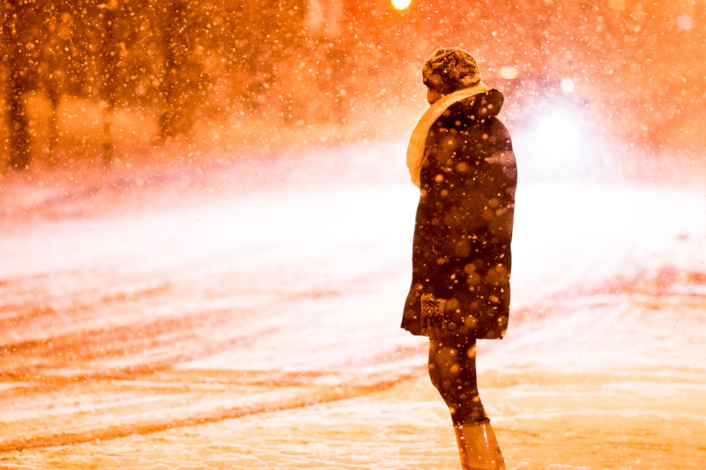 City in the Snow by Kian McKellar