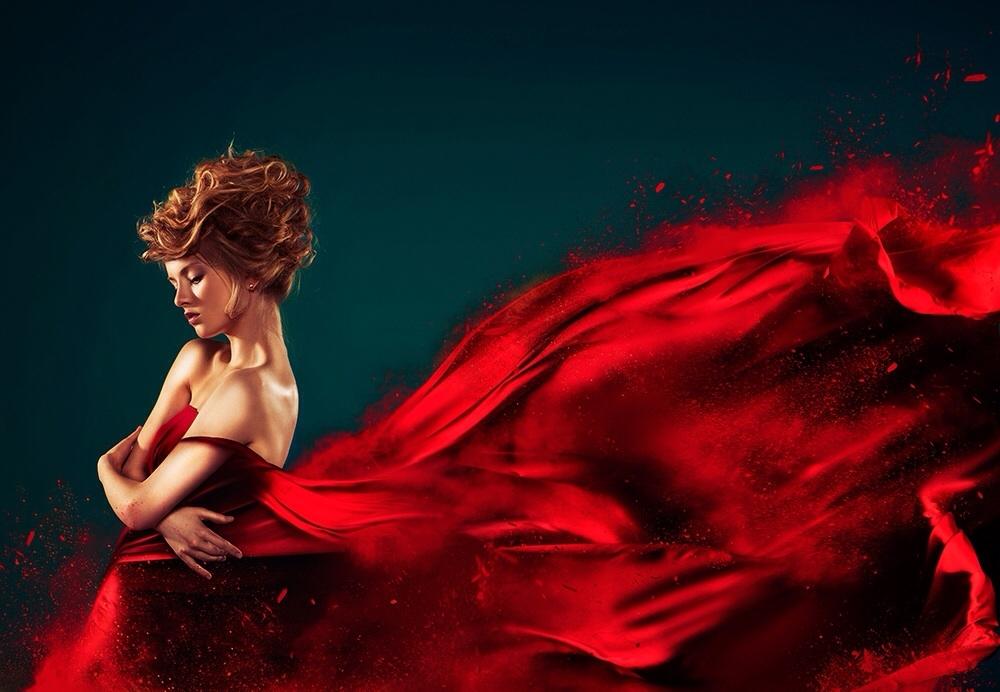 Red dress by Kate Ignatenko