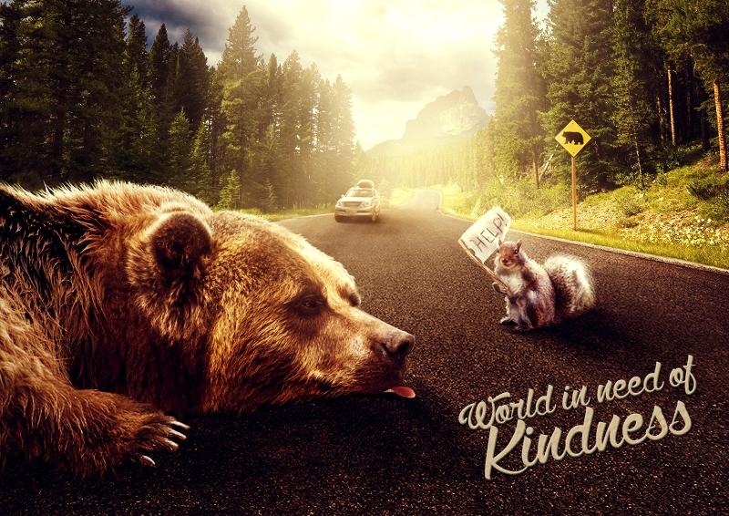 World in need of kindness by Kate Ignatenko