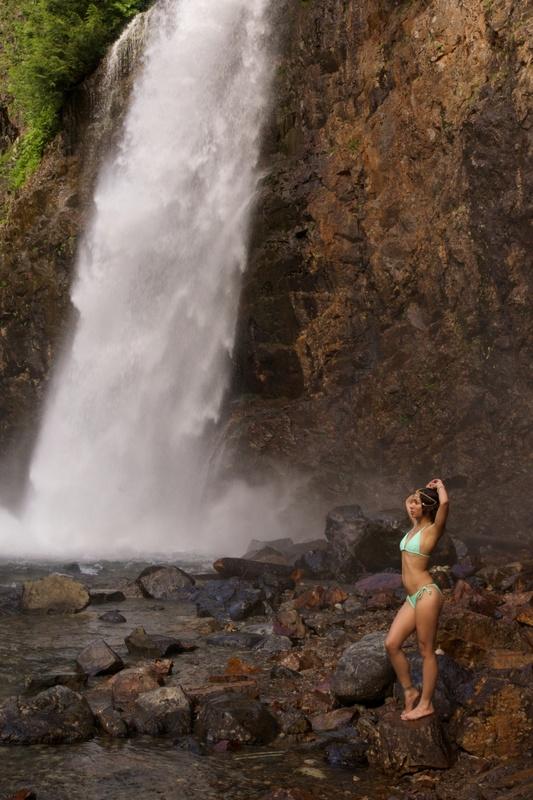 Alanna and Waterfall by Rakesh Malik