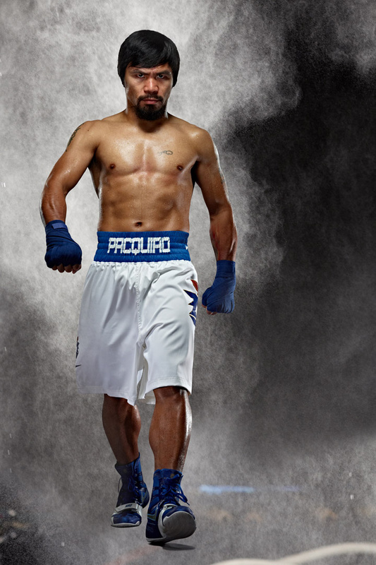 Manny Pacquiao for HBO photo by Monte Isom. by Monte Isom