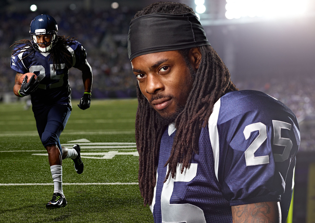 Untitled 3Richard Sherman for BodyArmor photo by Monte Isom by Monte Isom