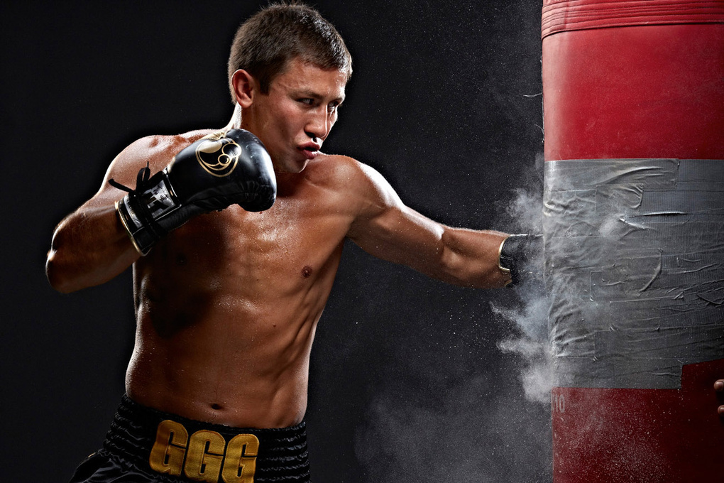 Gennady Golovkin for HBO boxing photo by Monte Isom by Monte Isom