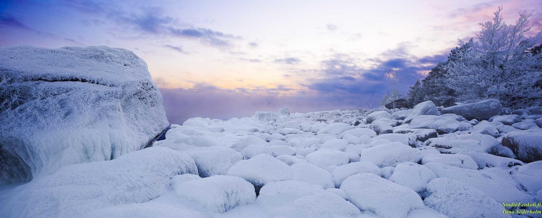 Winter Sunset by Tiina Söderholm