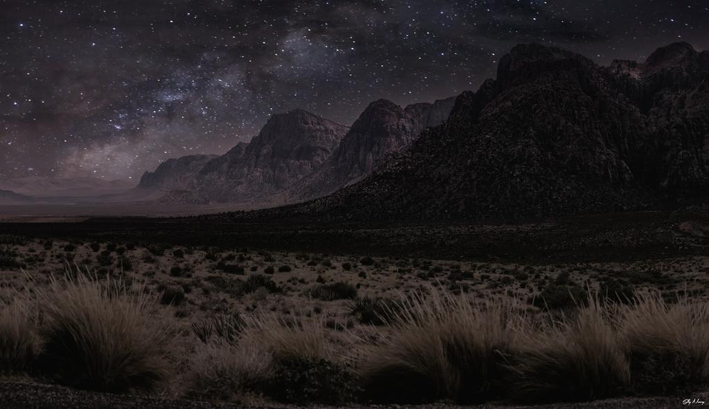 Red Rock Milky Way by Sky Neary
