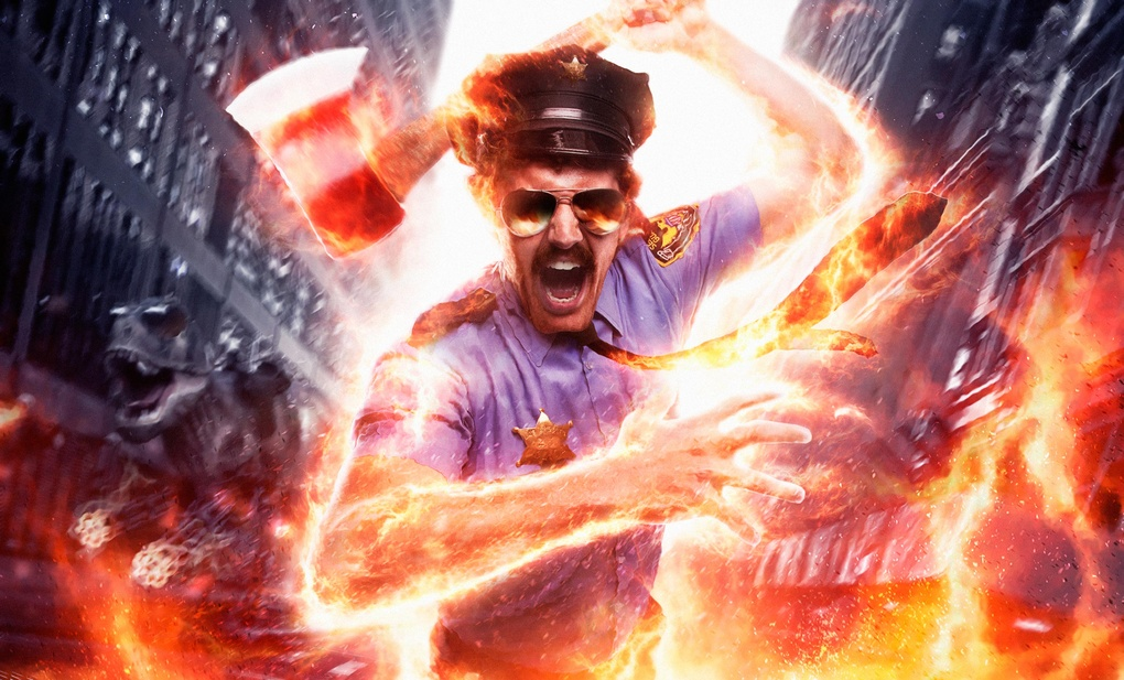 Axe Cop Fire by Drew Lundquist