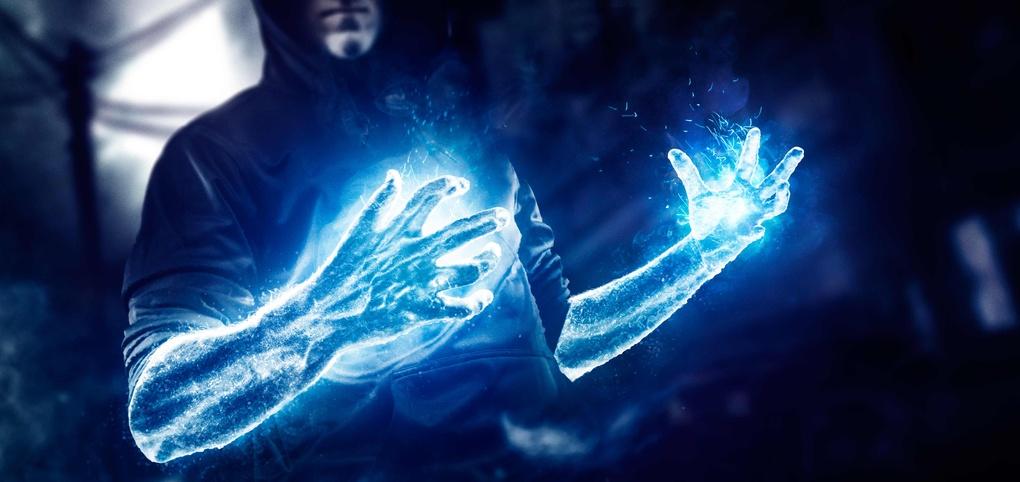 Blue Sparks by Drew Lundquist