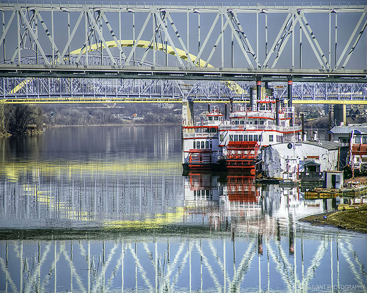 Riverboats and Bridges by Tim Wharton