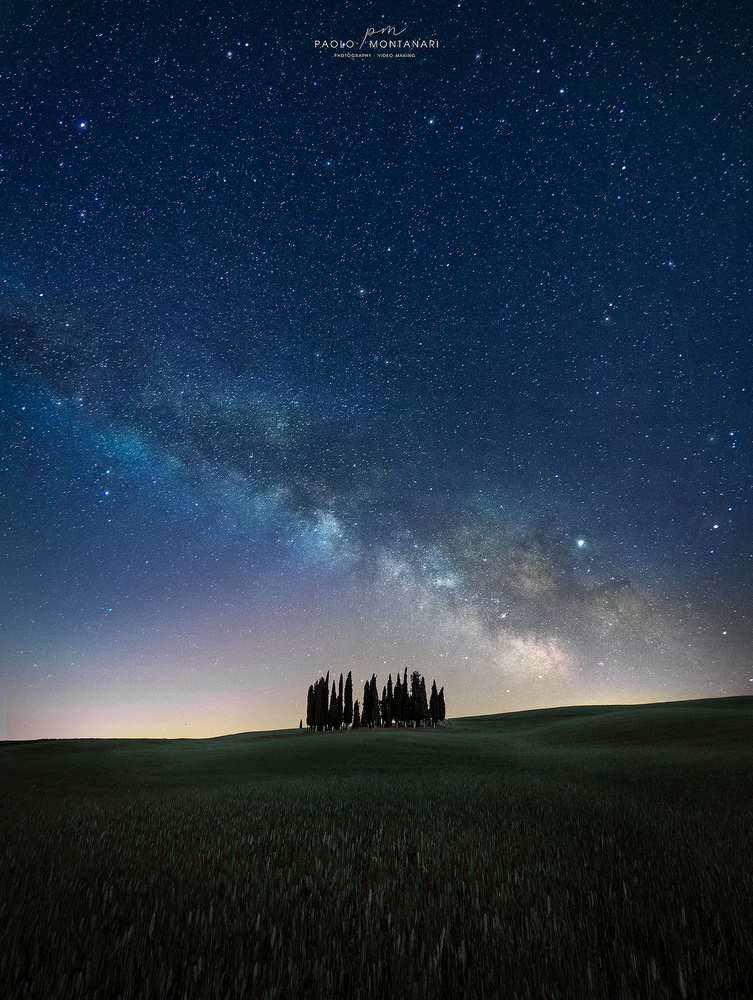 Milkyway in Tuscany by Paolo Montanari
