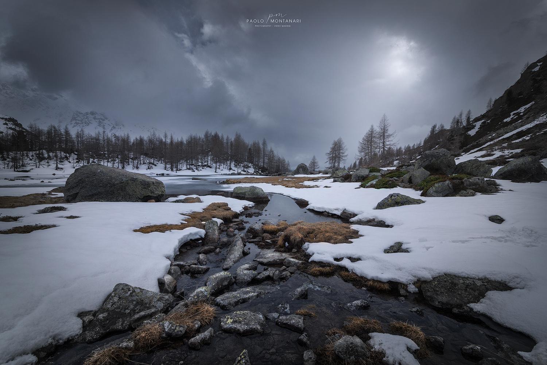 Last Snow in Valtellina by Paolo Montanari