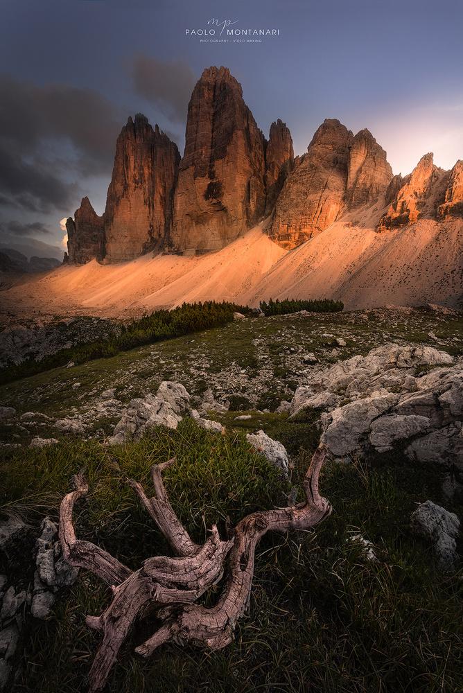 Sunset in Tre Cime di Lavaredo by Paolo Montanari