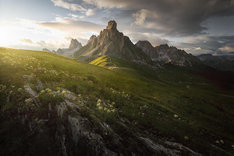Sunset in Dolomiti by Paolo Montanari