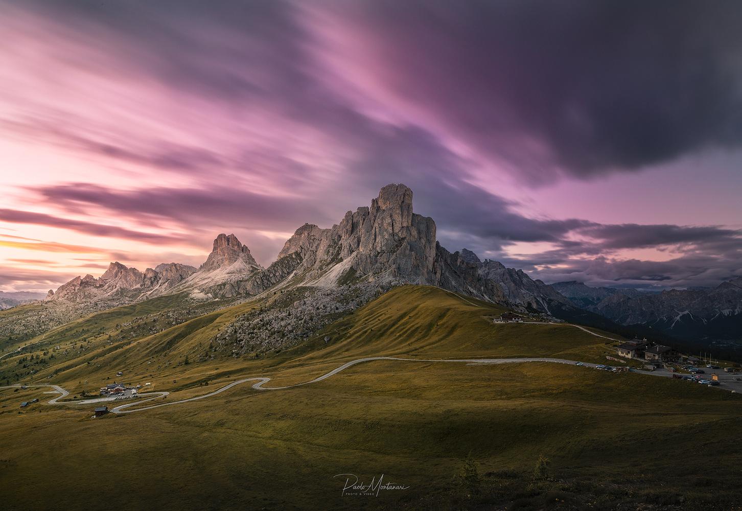 Sunset at Giau Pass by Paolo Montanari