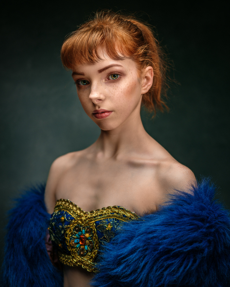 A portrait of a young dancer by Saulius Kerikas