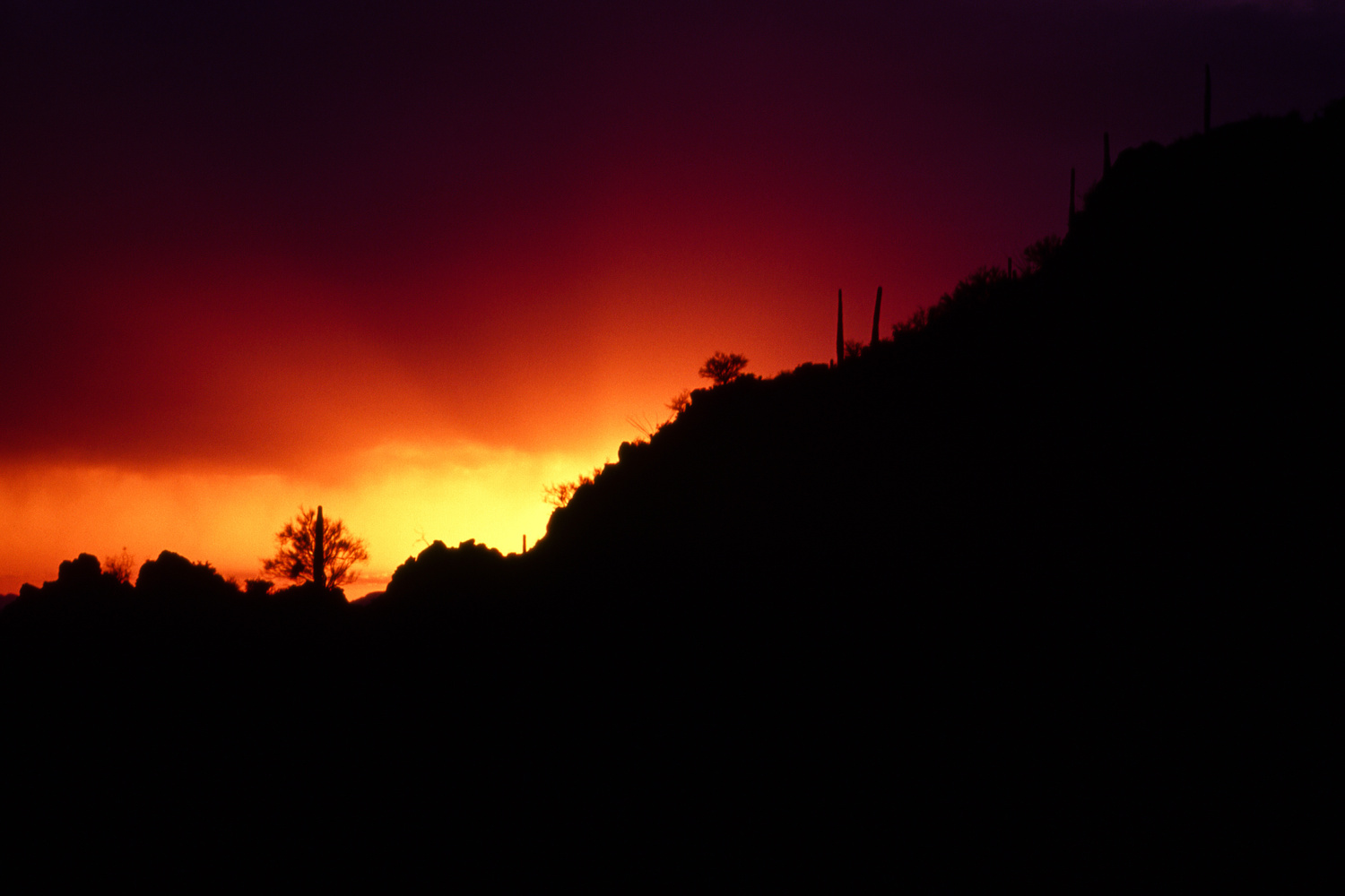 Sunset - Gates Pass, Tucson, AZ by Jeff Burian