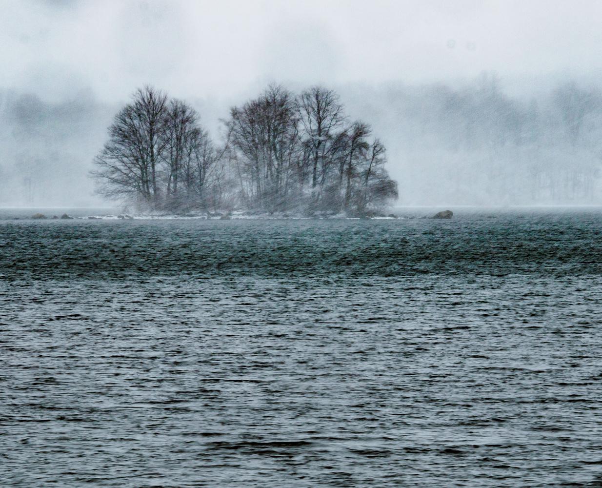 Lake Musconetcong Snowstorm by Jeff Burian