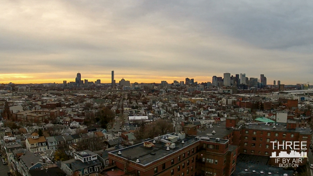 Boston Skyline by Nick Cosky