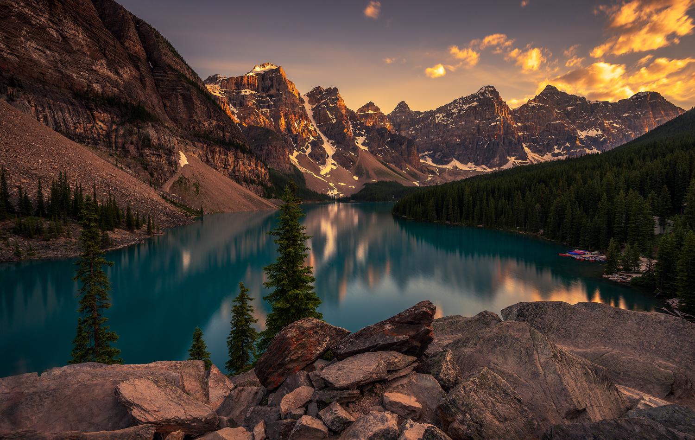 Moraine Lake Sunset by Jose Marvin Evasco
