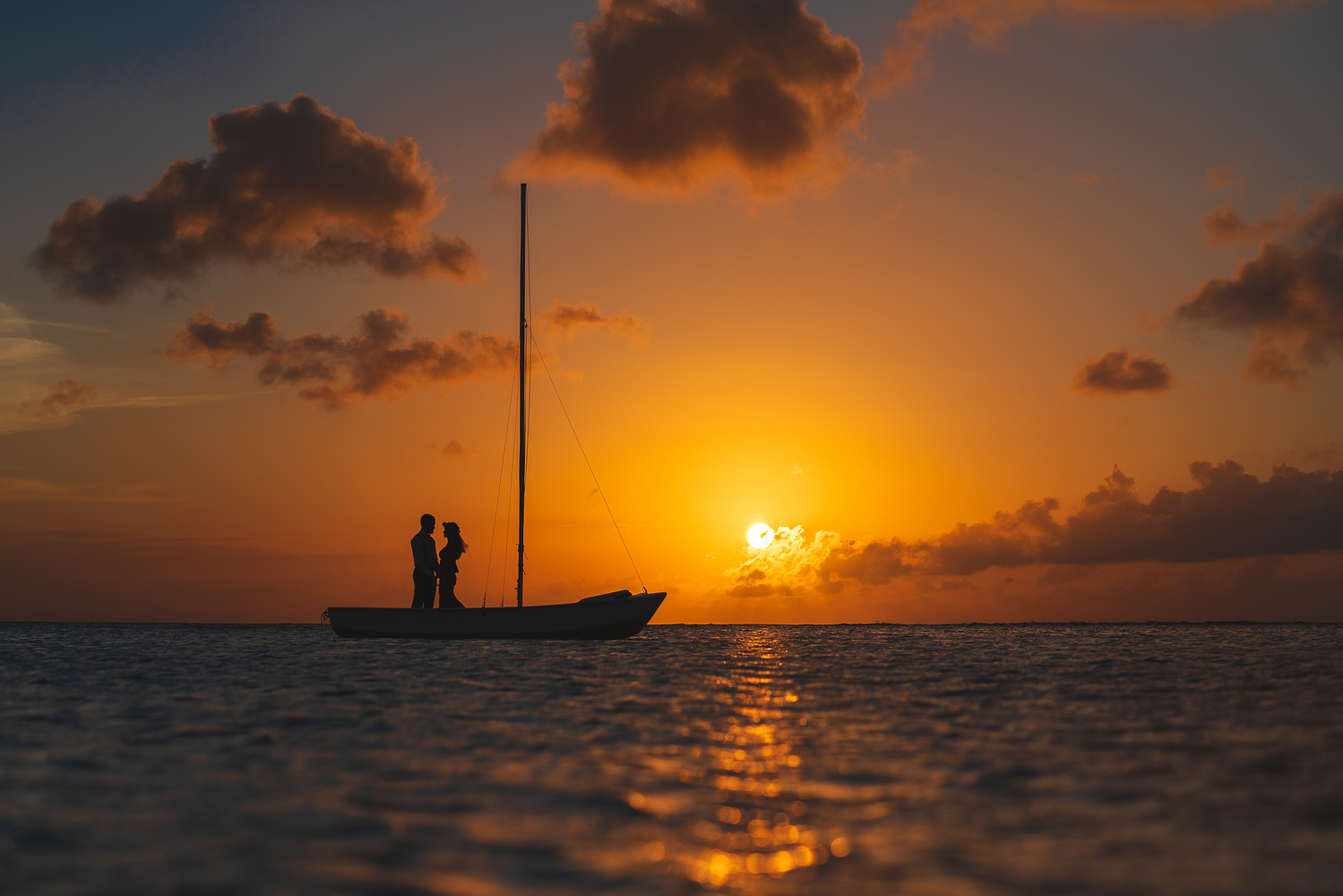 Lovers at Sunset by Carlos Garcia