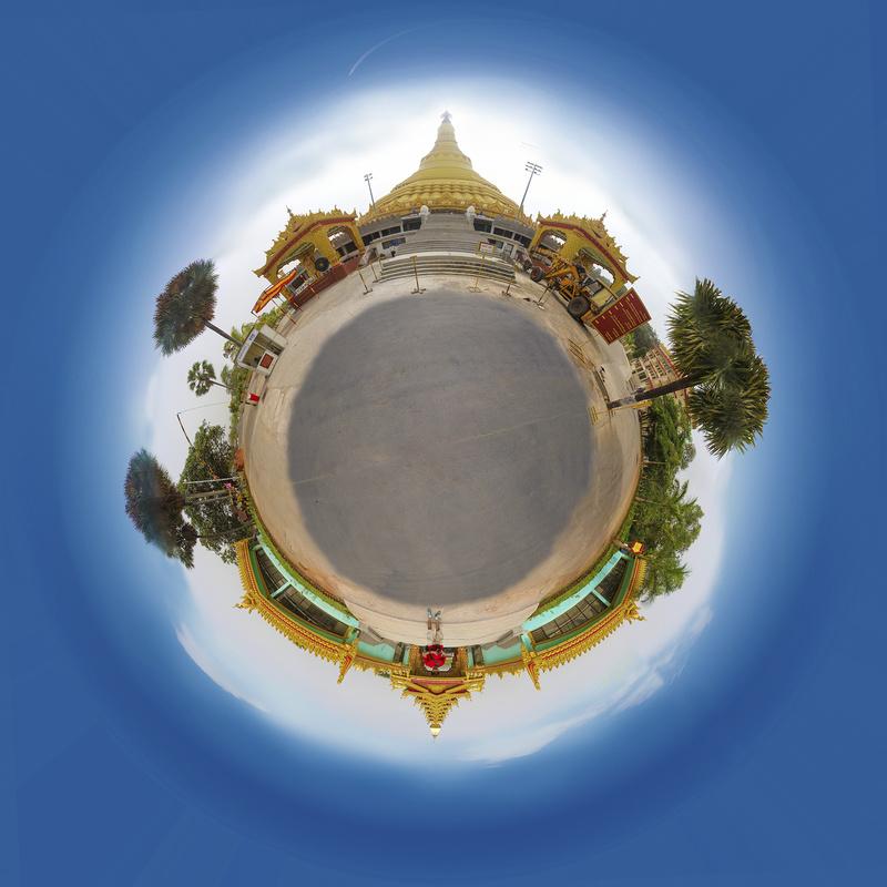 little planet Pagoda by Shaktivrat Khanvilkar
