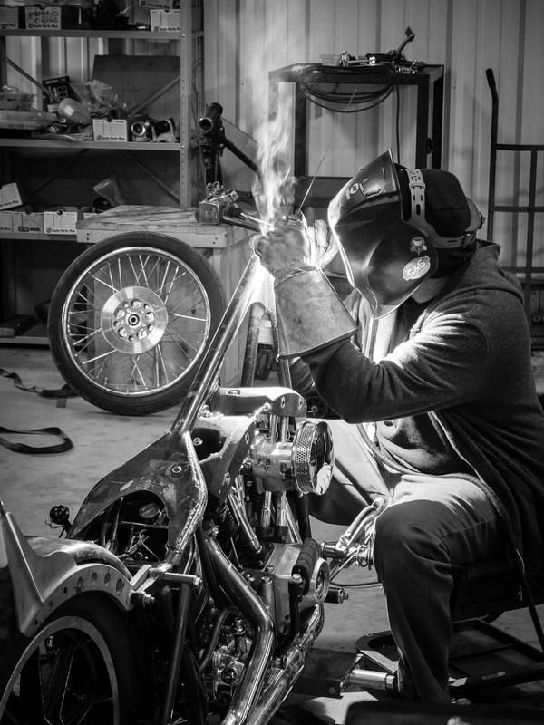 Motorcycle welder by Robert Watt