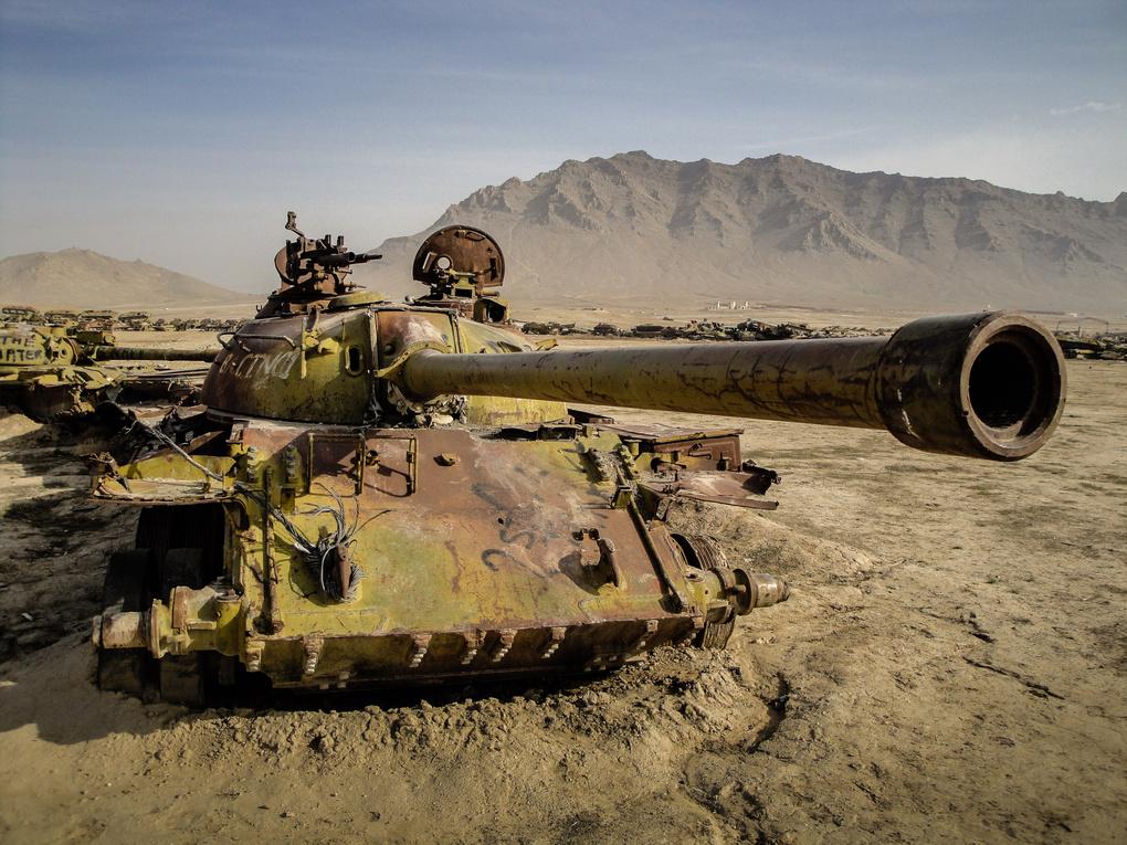 Abandoned Soviet tank, Afghanistan by Robert Watt