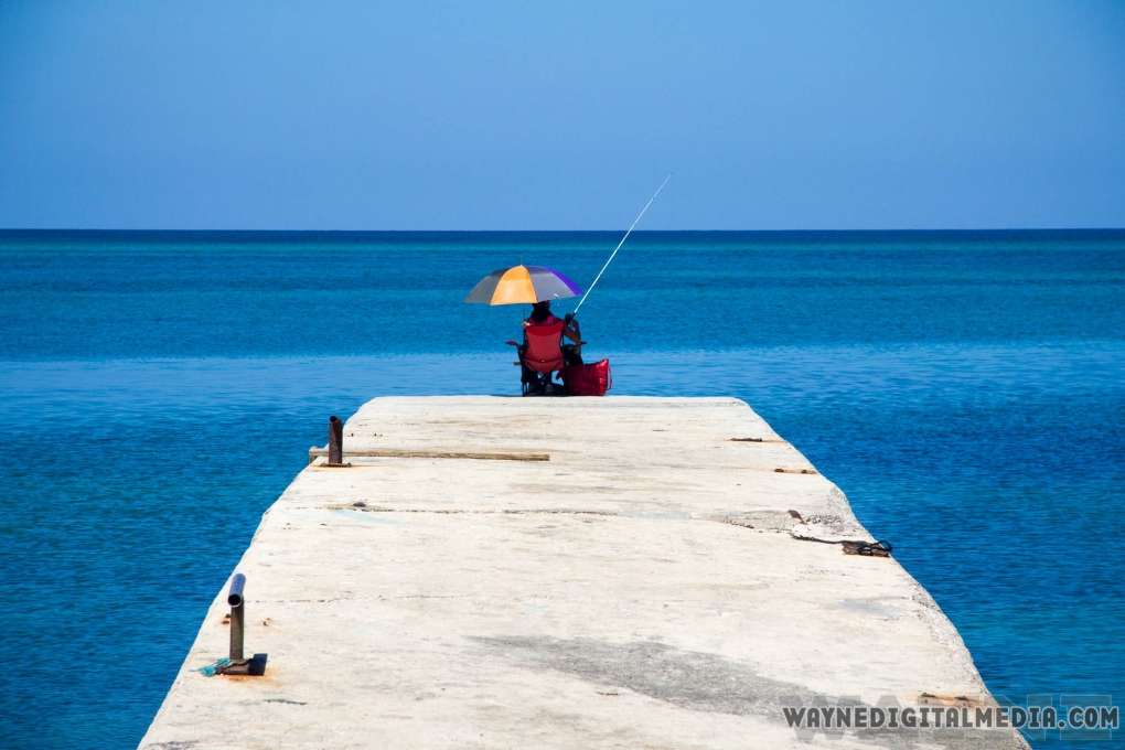 Fishing in the big blue by Dwayne Crawford