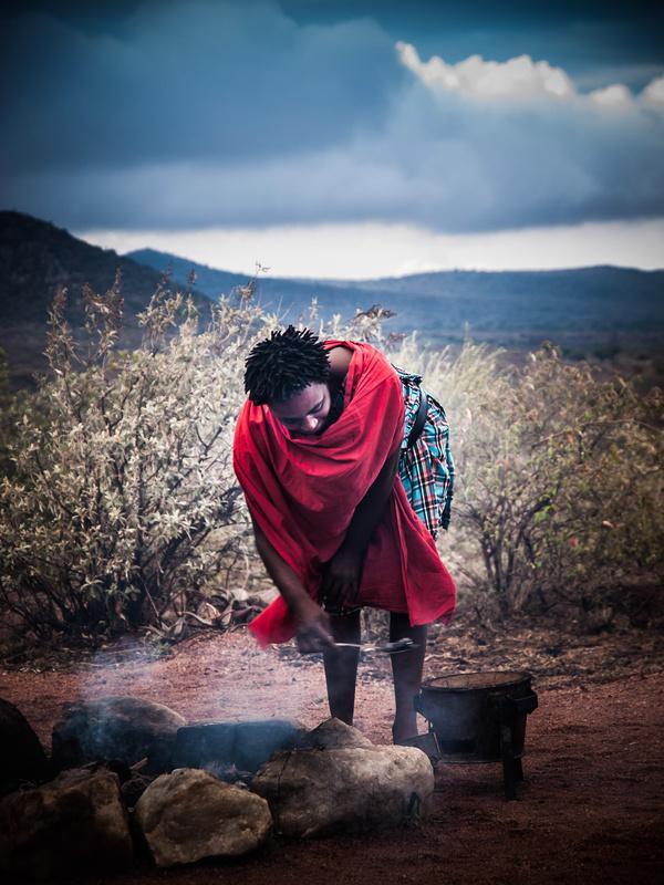 Masai breakfast by Jim DeLillo
