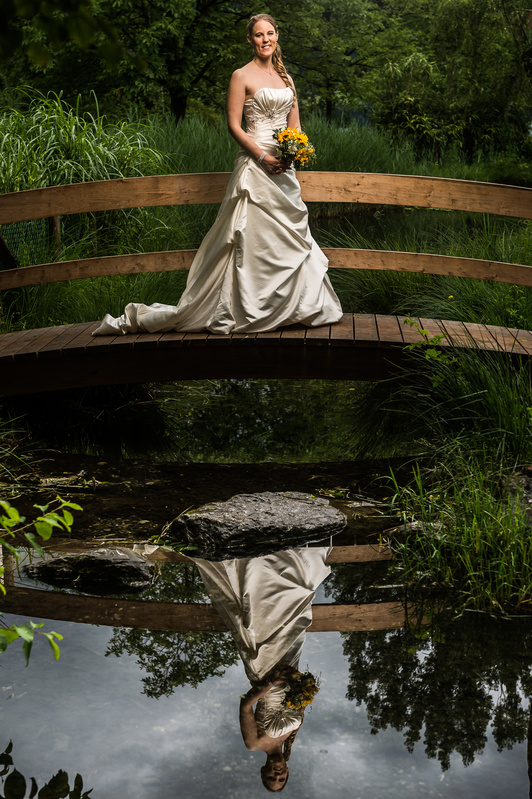 Bride and Reflection by Izedin Arnautovic