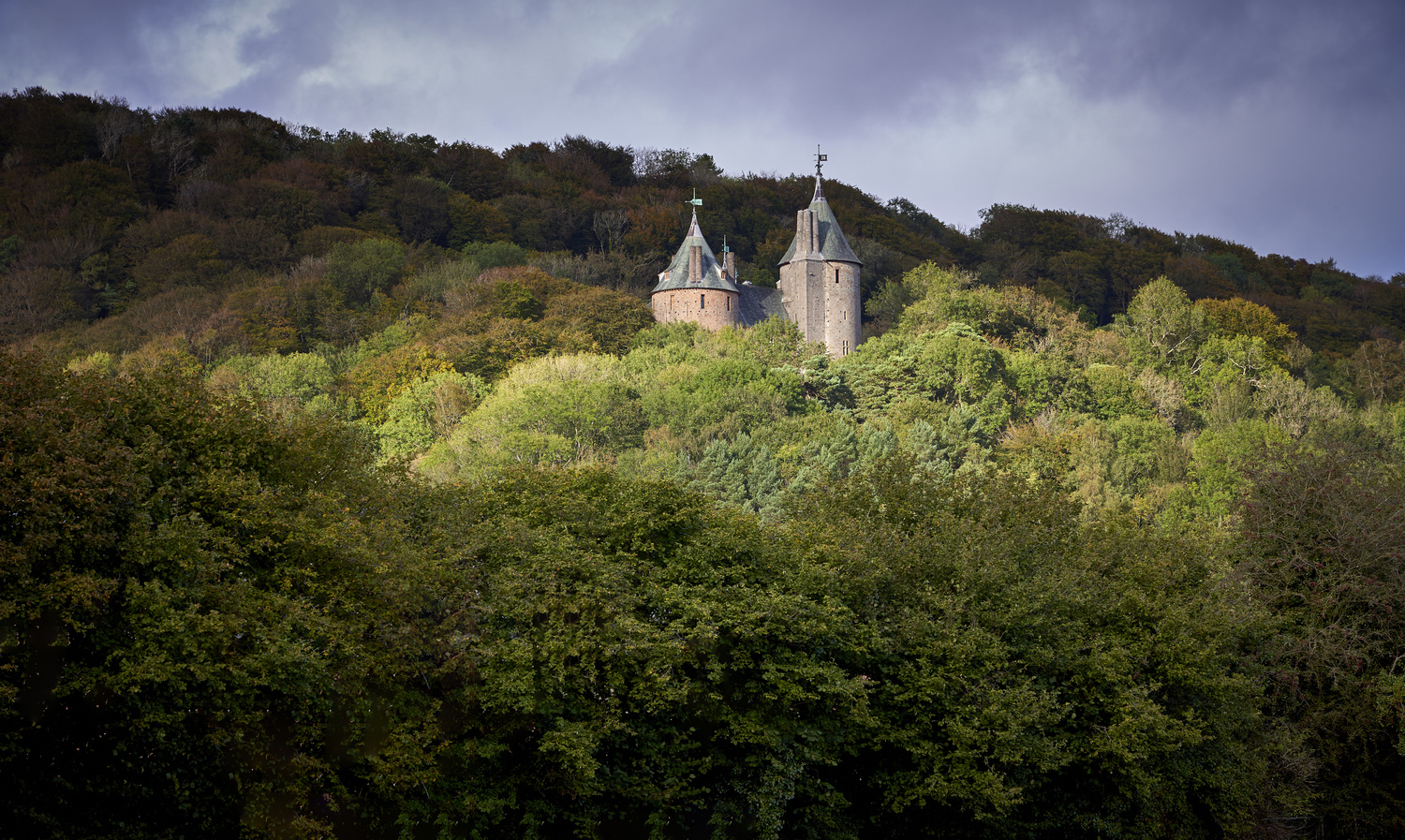 Castell Coch, South Wales by Richard Downs