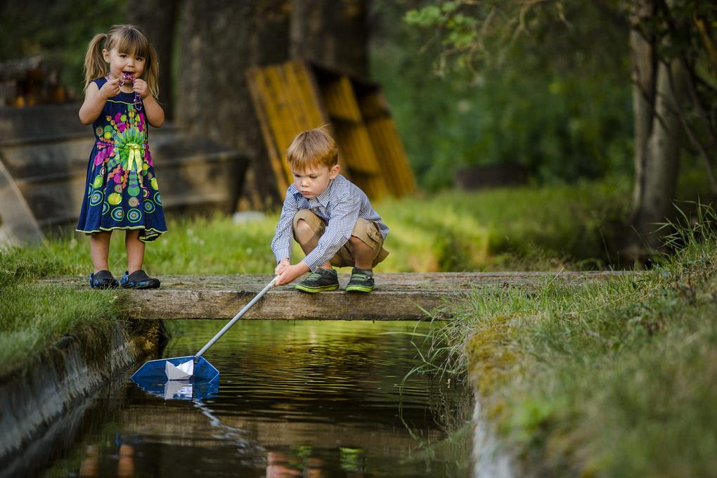 Back Yard Fishing by Matt Kuhn