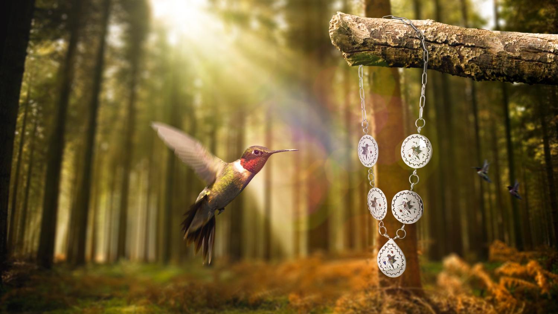 Hummingbird Inlay by Steven Bongers