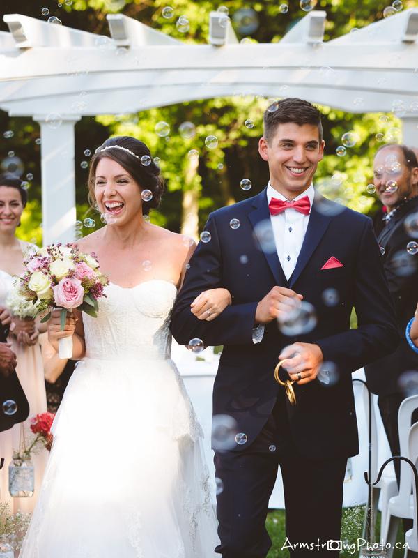 Wedding bubbles by Simon Armstrong